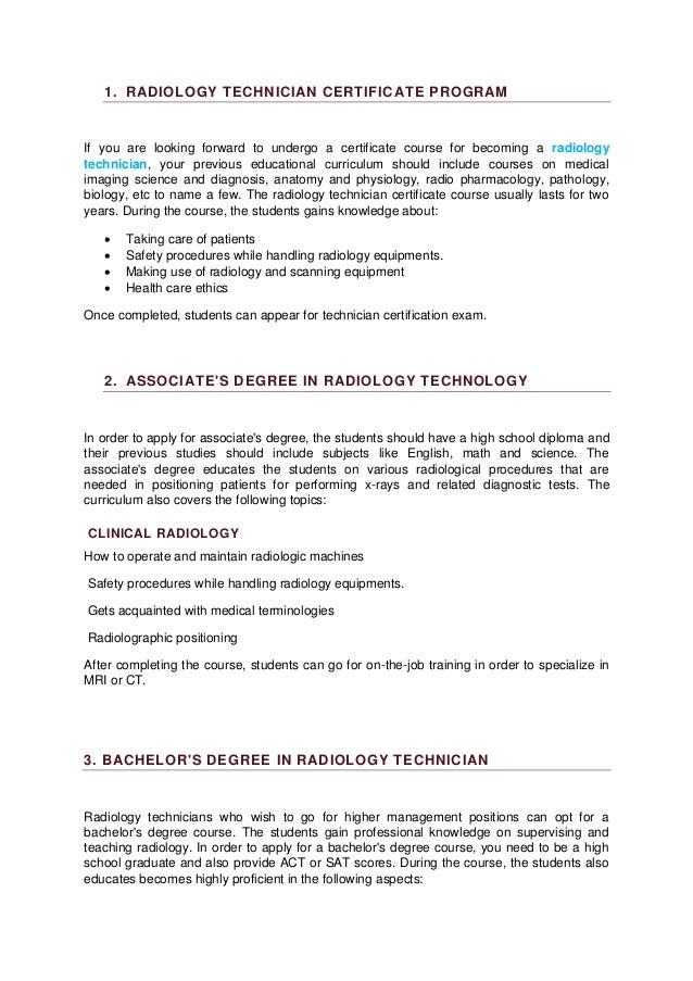 Radiology Technician Career Training Salary Overview