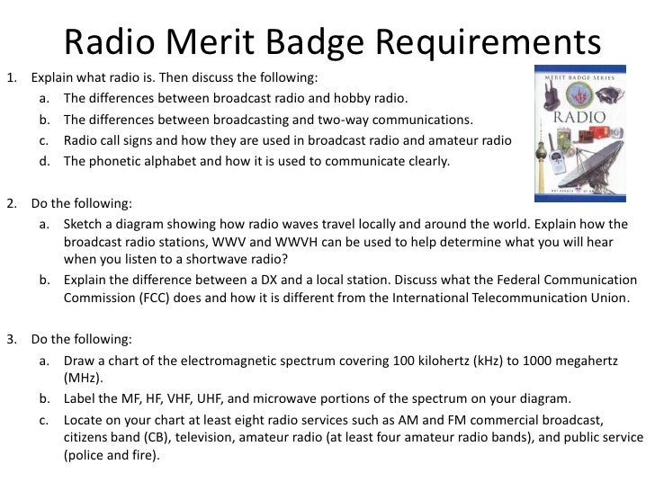 Radio merit badge – Electricity Merit Badge Worksheet
