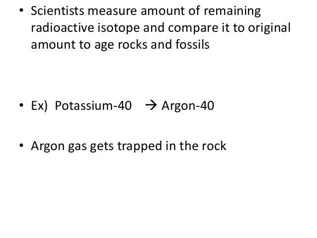 Potassium argon dating time frame 2