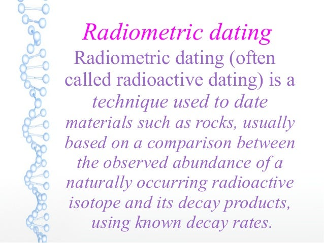 Is radiometric dating the same as carbon dating