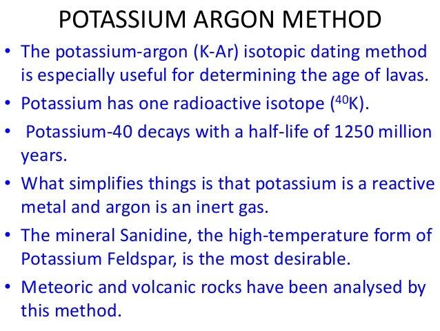 Potassium 40 dating fossils methods