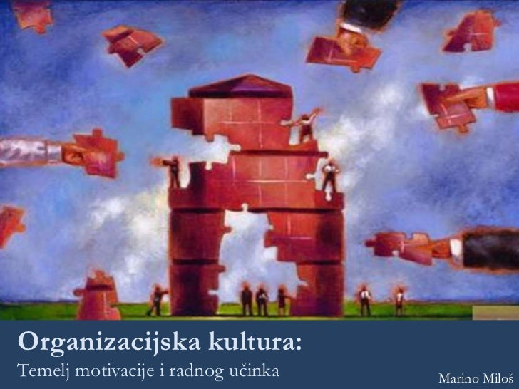 Organizacijska kultura:Temelj motivacije i radnog učinka   Marino Miloš
