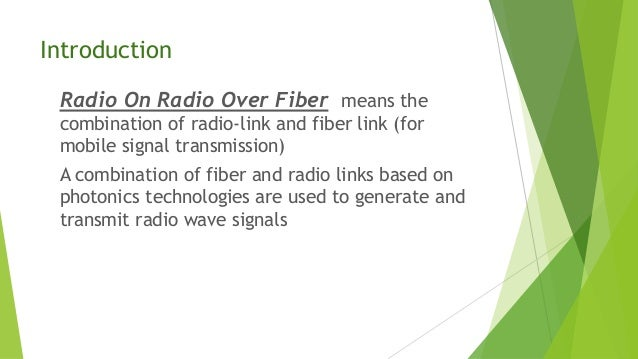 RADIO ON RADIO OVER FIBER EFFICIENT FRONTHAULING FOR SMALL CELLS AND MOVING CELLS Slide 2