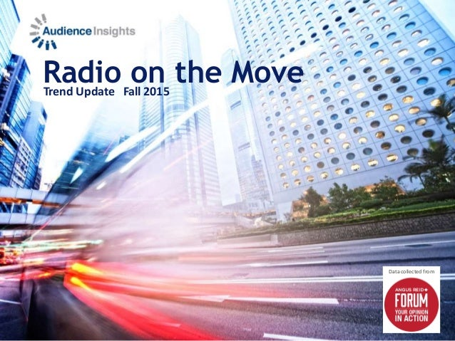 Radio on the MoveTrend Update Fall 2015 Data collected from