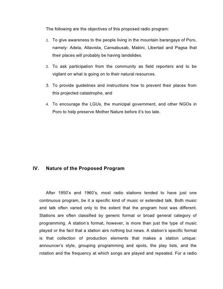 Radio Show Proposal Template