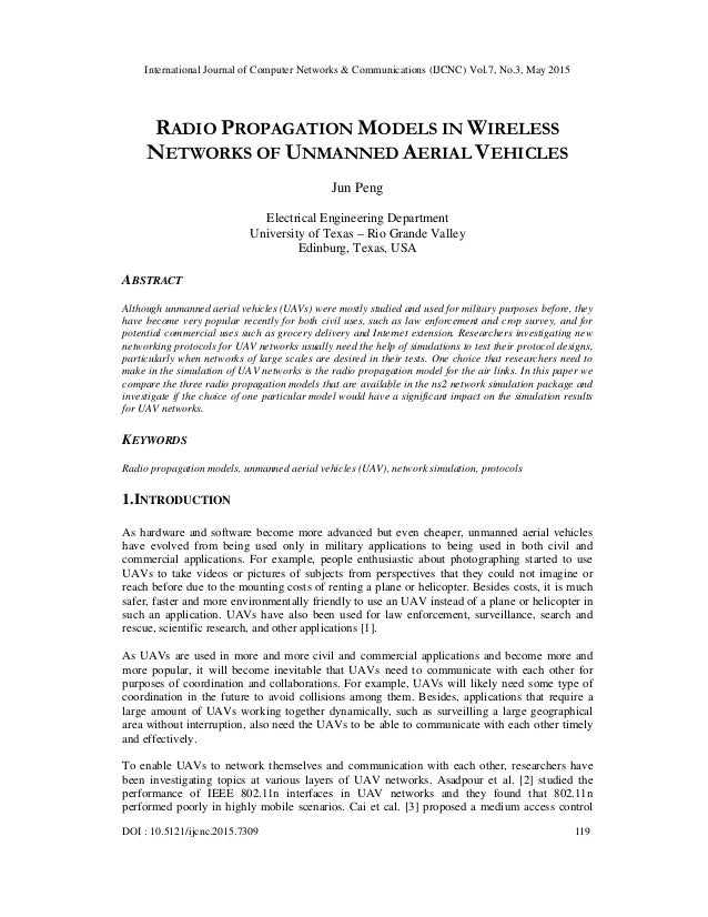 Radio propagation models in wireless