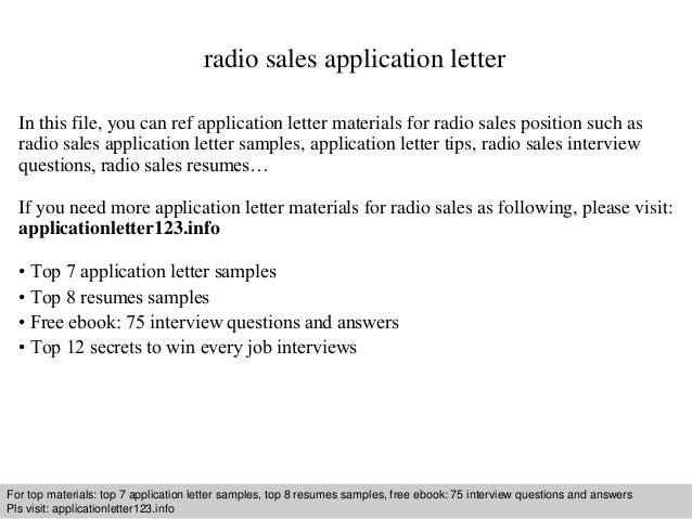 Radio Cover Letter Solan Annafora Co