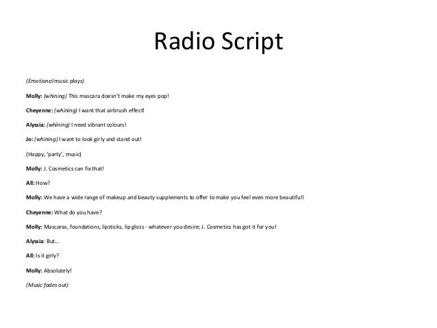 How to write a script for a radio commercial