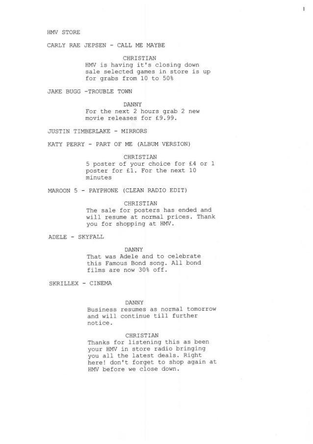 Radio script 2