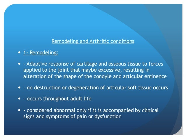  - Radiographic Features: - flattening - cortical thickening of articulating surfaces - subchondral sclerosis -D/D: f...
