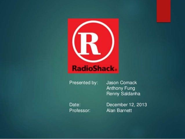 Presented by: Jason Comack Anthony Fung Renny Saldanha Date: December 12, 2013 Professor: Alan Barnett