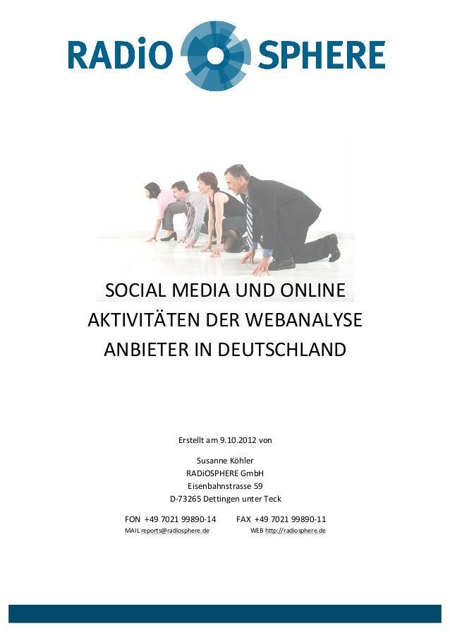 SOCIAL  MEDIA  UND  ONLINE   AKTIVITÄ...