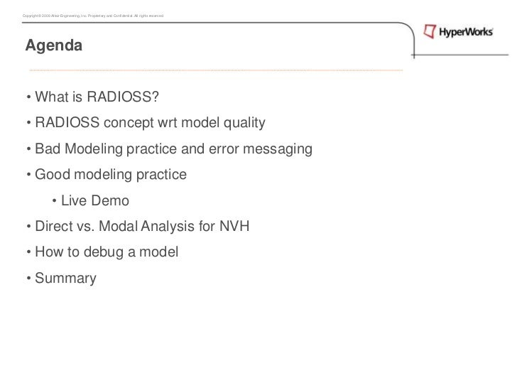 Radioss analysis quality_ht