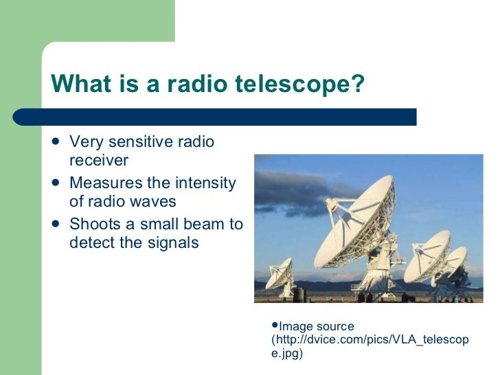 Radio telescopes power point