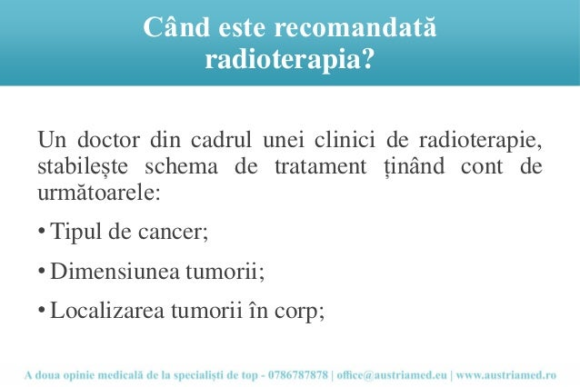 cand se face radioterapie
