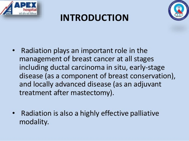 RADIOTHERAPY IN CARCINOMA BREAST (EARLY AND LOCALLY ADVANCED) Slide 2