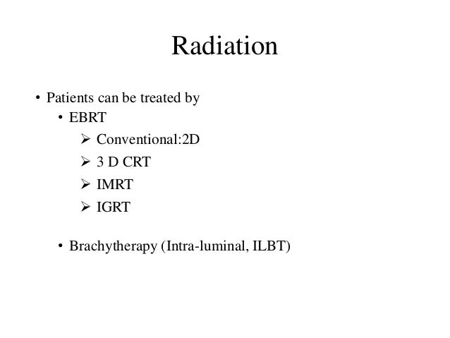 Radiotherapy in ca esophagus Slide 2