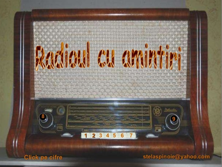 2 3 4 5 6 7 1 1 9 Radioul cu amintiri 8 Click pe cifre [email_address]