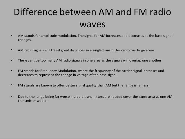 difference between am and fm pdf