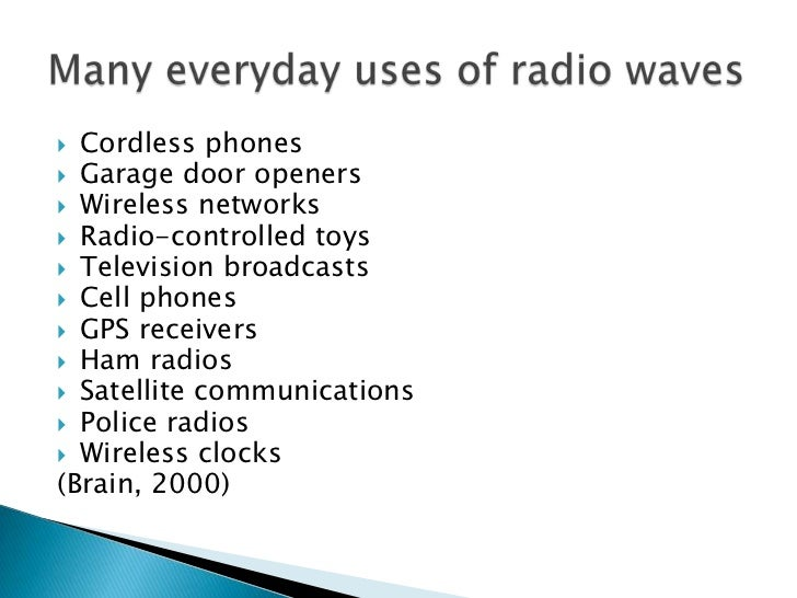 Radio Waves Beyond Broadcasting