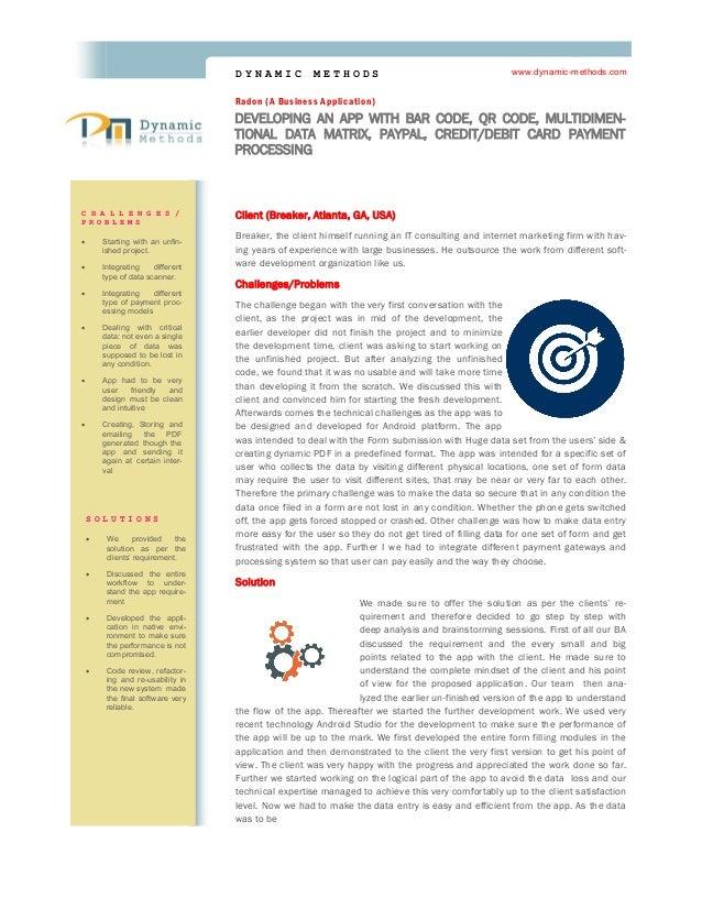 Sample Case Study for Mobile Application Development