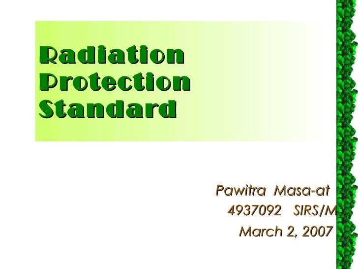 Radiation protection Standard