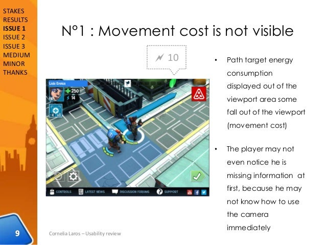 N°1 : Movement cost is not visible • Path target energy consumption displayed out of the viewport area some fall out of th...