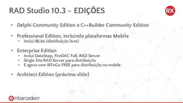 Todos os recursos do RAD Studio 10 3 RIO