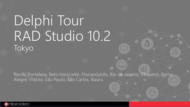 1 Delphi Tour RAD Studio 10.2 Tokyo Recife, Fortaleza, Belo Horizonte, Florianópolis, Rio de Janeiro, Chapecó, Porto Alegr...