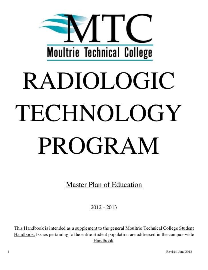 RADIOLOGIC    TECHNOLOGY      PROGRAM                              Master Plan of Education                               ...