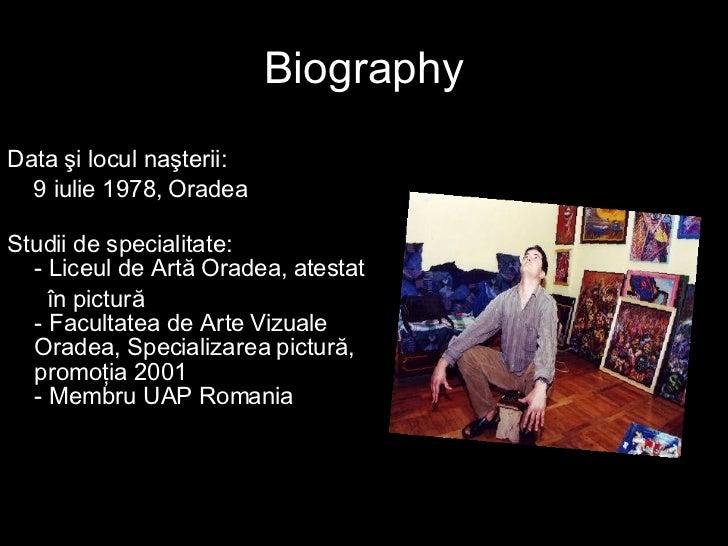 Radu Pamant (Earth)-Young Romanian Painter Slide 2