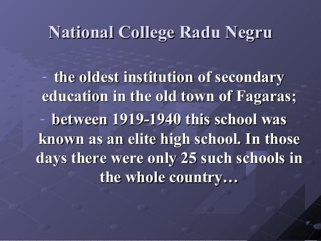 National College Radu NegruNational College Radu Negru - the oldest institution of secondarythe oldest institution of seco...