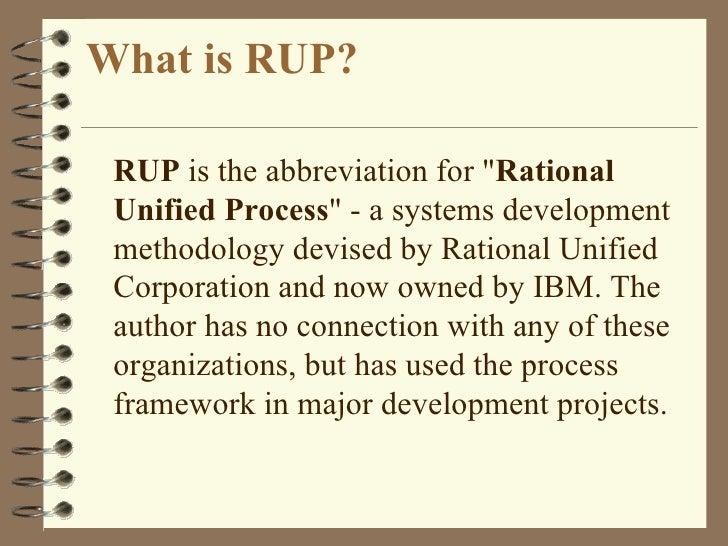 Rup Vs Rad Methodology