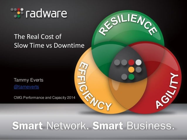 The Real Cost of Slow Time vs Downtime  Tammy Everts  @tameverts  CMG Performance and Capacity 2014