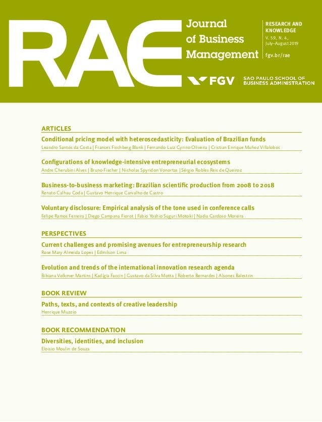 ARTICLES Conditional pricing model with heteroscedasticity: Evaluation of Brazilian funds Leandro Santos da Costa | France...