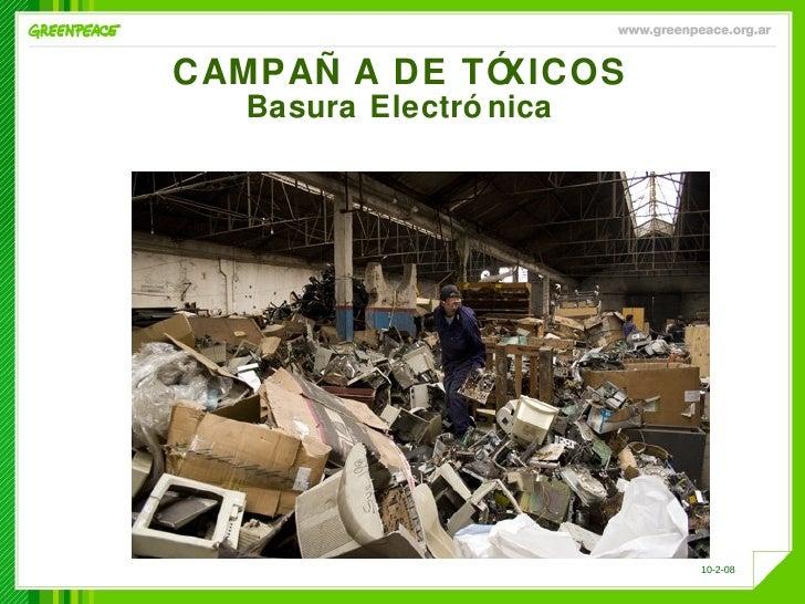 CAMPAÑA DE TÓXICOS Basura Electrónica