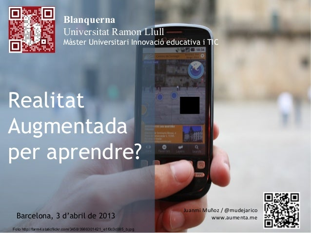 Blanquerna                           Universitat Ramon Llull                           Màster Universitari Innovació educa...