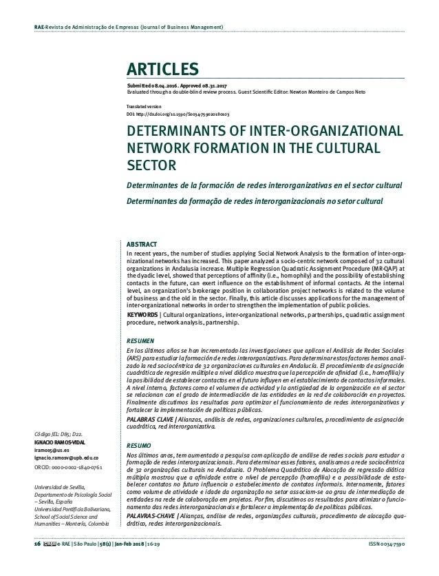 Rae Revista De Administracao De Empresas Journal Of Business Managem