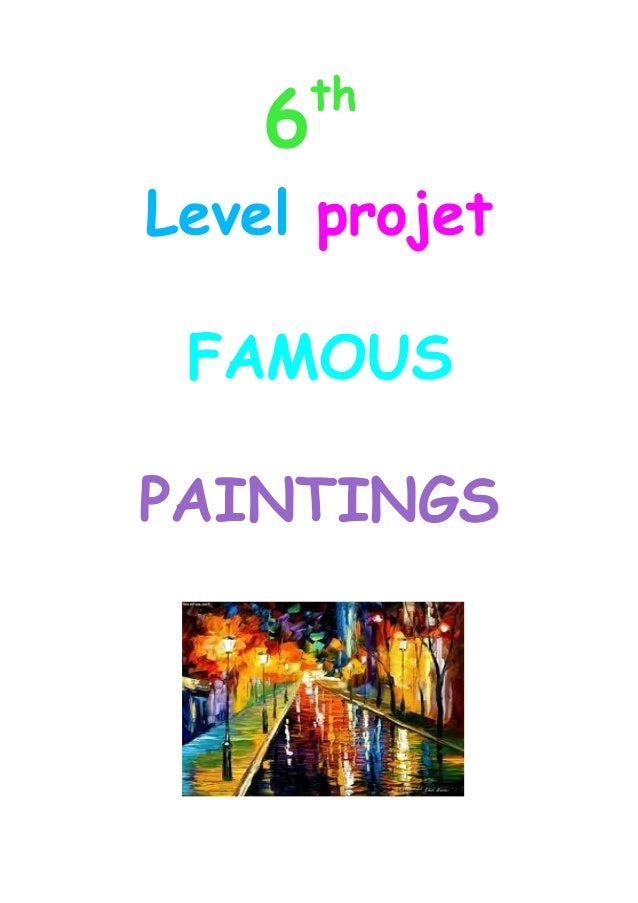 6  th  Level projet FAMOUS PAINTINGS