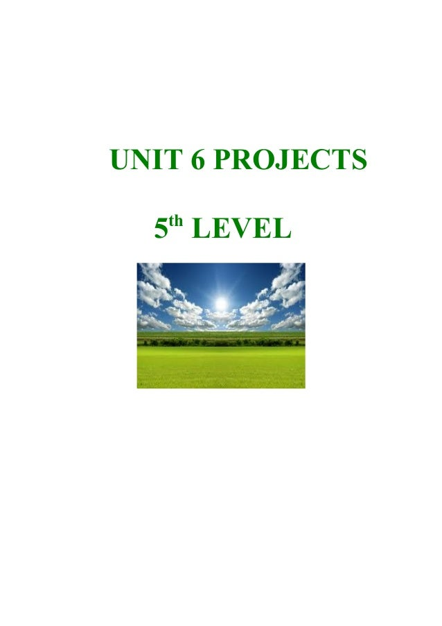 UNIT 6 PROJECTS 5th LEVEL
