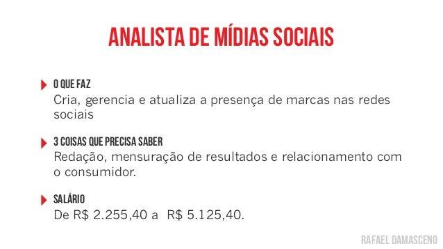 rafael damascenoanalista de mídias sociais‣ O Que FazCria, gerencia e atualiza a presença de marcas nas redessociais‣ 3 co...