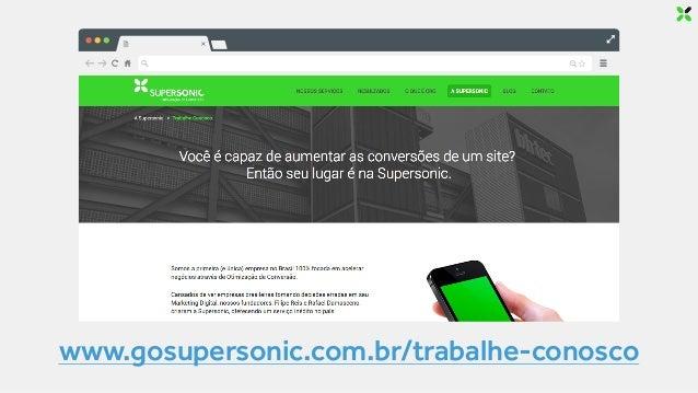 ENTÃO VAMOS EXPERIMENTAR! Rafael Damasceno www.gosupersonic.com.br