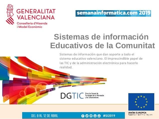 Rafael Gimeno - Sistemas de información educativos de la Comunitat Valenciana Slide 2