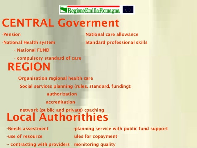 CENTRAL Goverment -Pension National care allowance -National Health system Standard professional skills - National FUND - ...