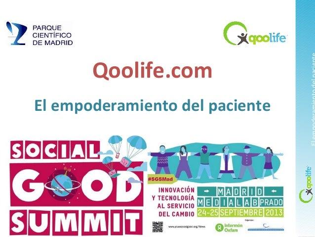 Qoolife.com El empoderamiento del paciente