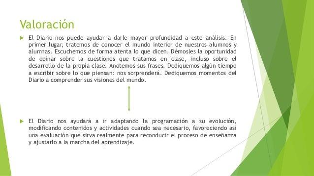 Valoración  El Diario nos puede ayudar a darle mayor profundidad a este análisis. En primer lugar, tratemos de conocer el...