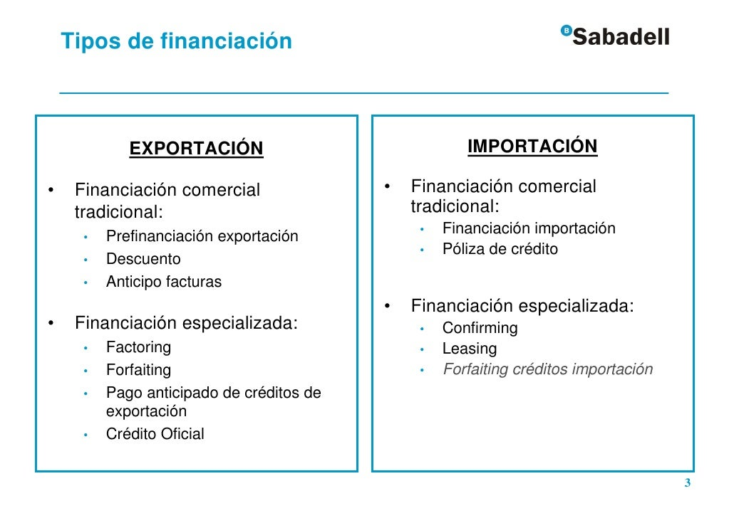 Financiaci n en el comercio internacional for Definicion exterior