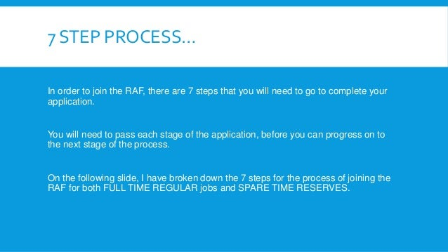 RAF Application Process - How to join the RAF