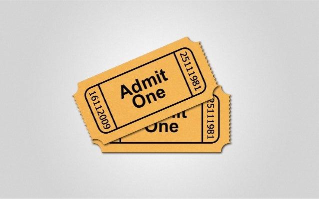Admit One Admit One