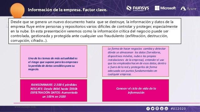 Rafa Vidal, Nunsys - Seguridad as a service: Como proteger el activo más crítico, la información Slide 3